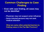 common challenges to case finding