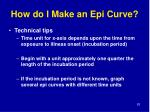 how do i make an epi curve83