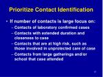 prioritize contact identification