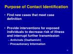 purpose of contact identification