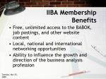 iiba membership benefits
