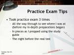 practice exam tips