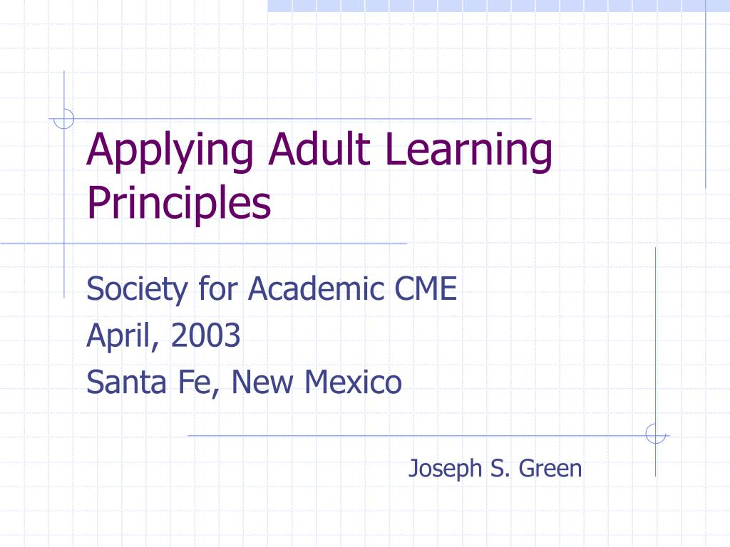 applying adult learning principles l.