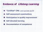 evidence of lifelong learning
