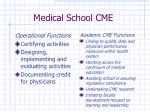 medical school cme