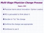 multi stage physician change process rogers 1983