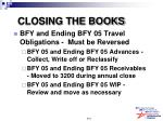 closing the books169
