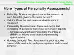 more types of personality assessments