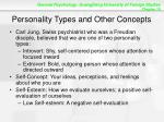 personality types and other concepts