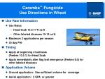 caramba fungicide use directions in wheat