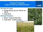 caramba tm fungicide crops on label and target diseases