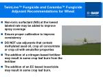twinline fungicide and caramba fungicide adjuvant recommendations for wheat