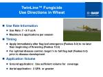 twinline fungicide use directions in wheat