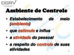 ambiente de controle