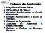 fatores do ambiente