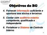 objetivos do bg23
