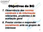 objetivos do bg24