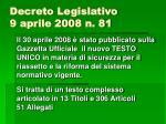 decreto legislativo 9 aprile 2008 n 81