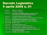 decreto legislativo 9 aprile 2008 n 813