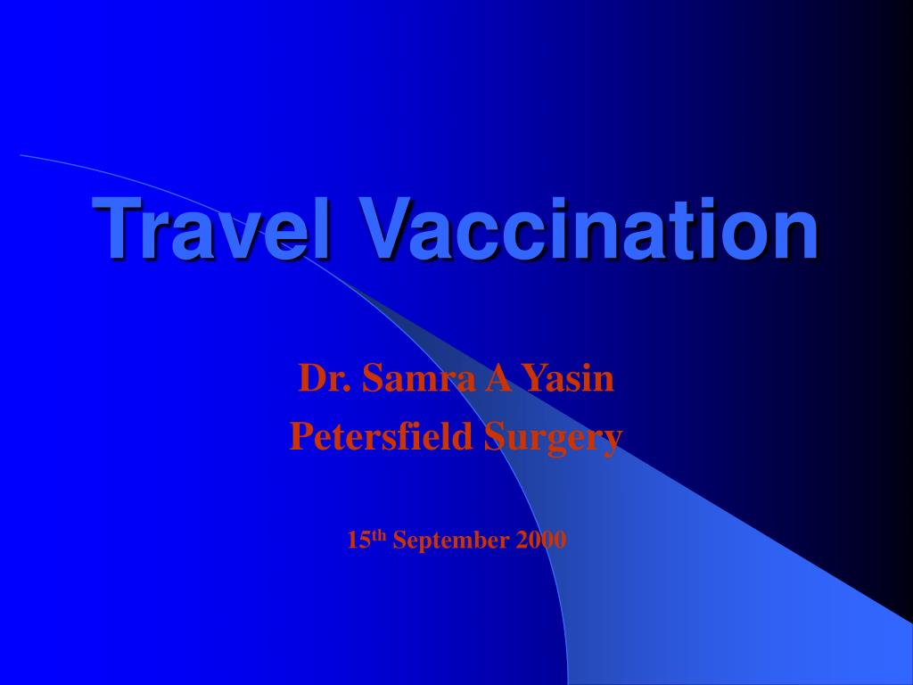 travel vaccination l.