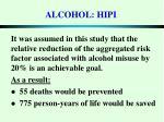 alcohol hipi