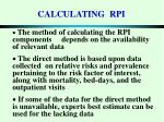 calculating rpi