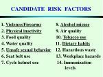 candidate risk factors