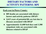 dietary factors and activity patterns rpi
