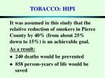 tobacco hipi