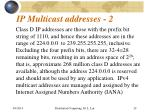 ip multicast addresses 2