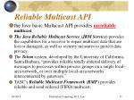 reliable multicast api