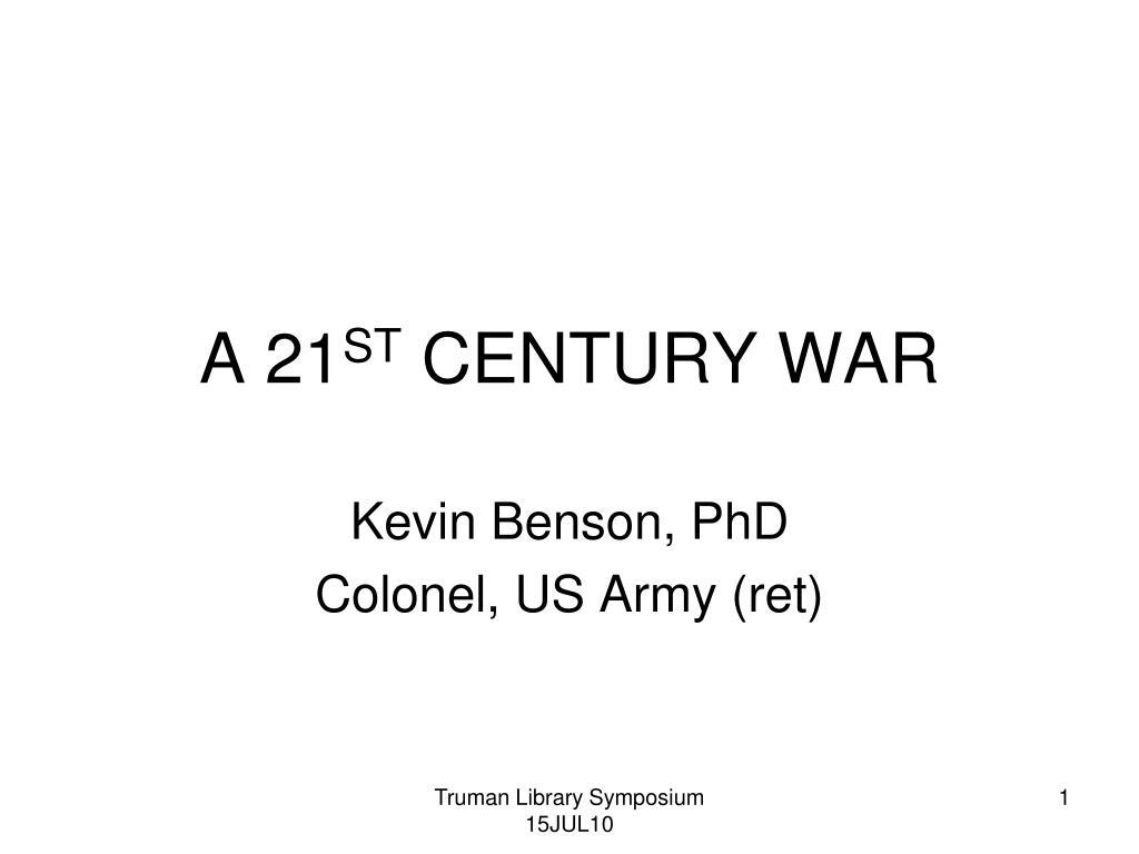 a 21 st century war l.