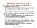 why we are in the war
