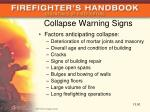 collapse warning signs
