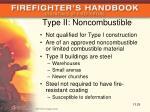 type ii noncombustible