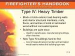 type iv heavy timber