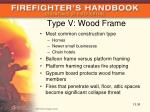 type v wood frame