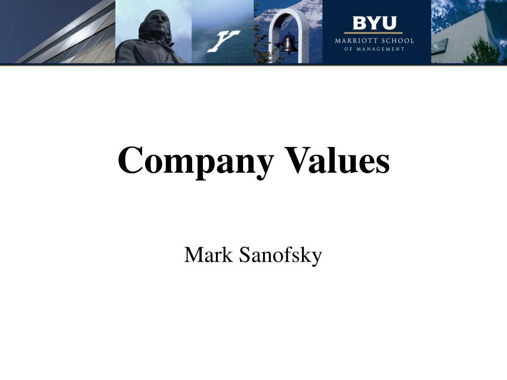 company values l.