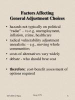factors affecting general adjustment choices