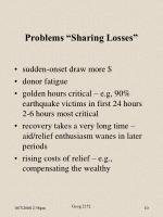 problems sharing losses