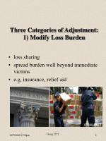 three categories of adjustment 1 modify loss burden