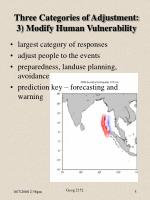 three categories of adjustment 3 modify human vulnerability