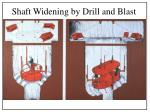 shaft widening by drill and blast