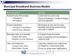 municipal broadband business models