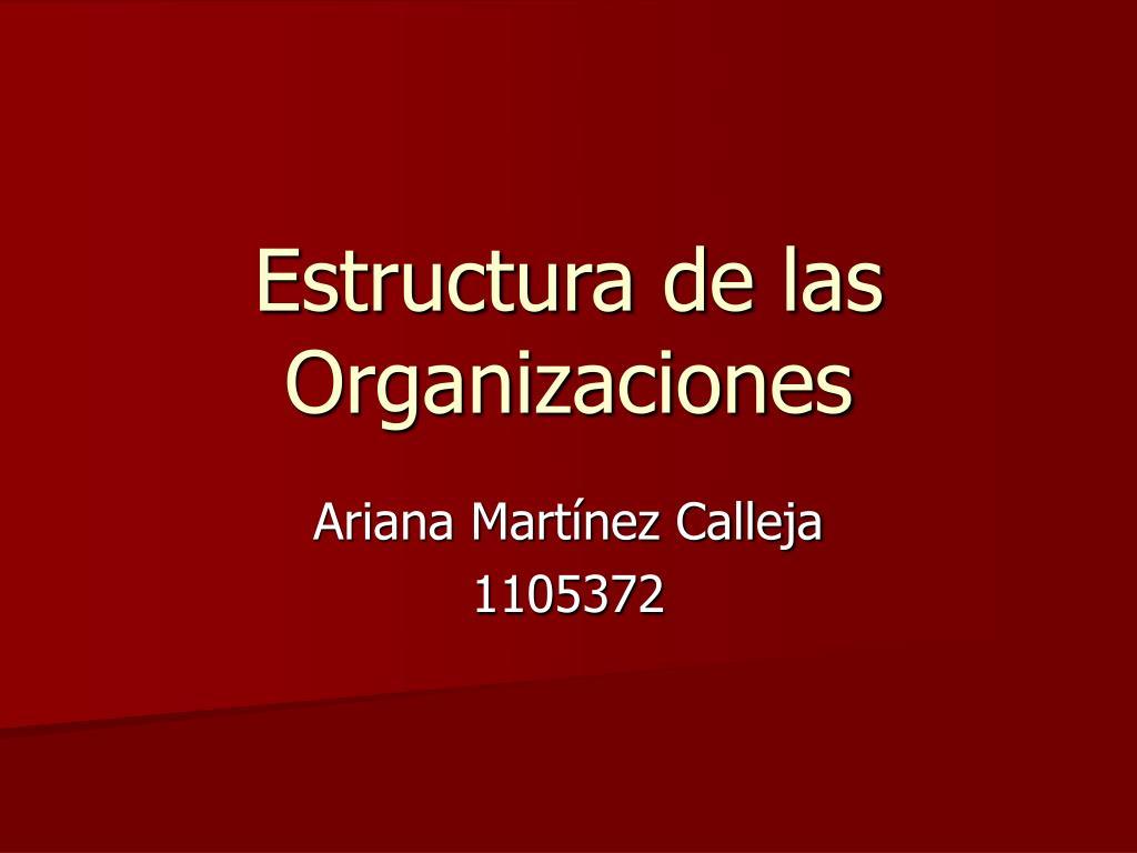 estructura de las organizaciones l.