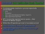 enhanced unit verification goals reached21