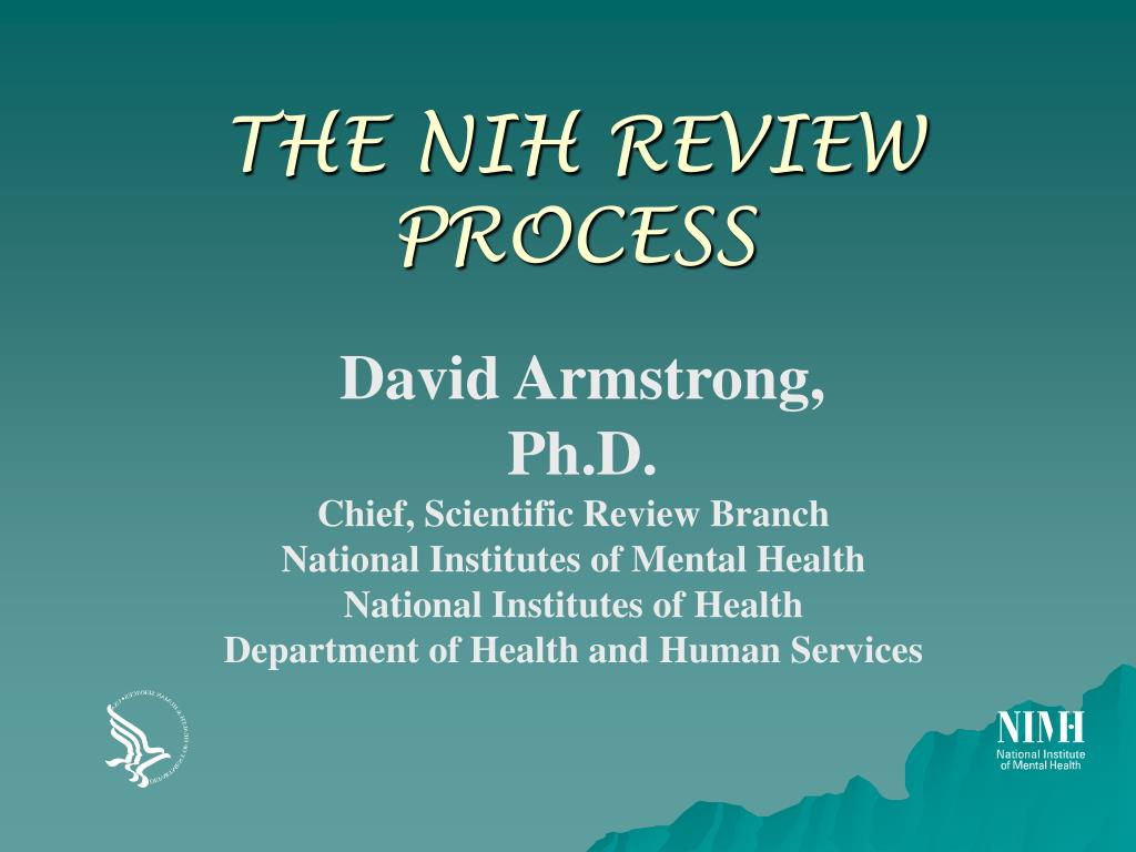 the nih review process l.