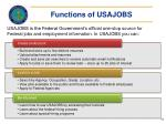 functions of usajobs