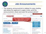 job announcements