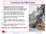 conclusions from hbt analysis